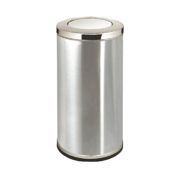 不锈钢圆柱形垃圾桶